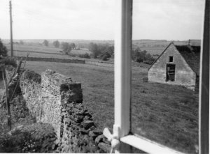 View from the upstairs window of 10 Hall Yard in the 1950s